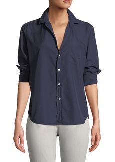 Frank & Eileen Long-Sleeve Button-Down Cotton Top