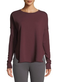Frank & Eileen Long-Sleeve High-Low Cotton Fleece Sweatshirt