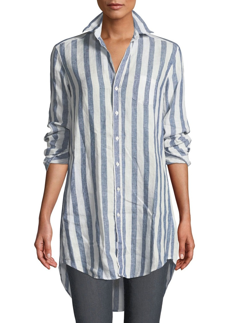 090a71d8 Frank & Eileen Mary Striped Button-Down Linen Top | Casual Shirts