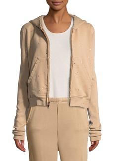 Frank & Eileen Metallic Splatter Zip-Front Hooded Jacket