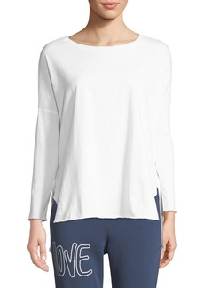 Frank & Eileen Relaxed Long-Sleeve High-Low Cotton Tee