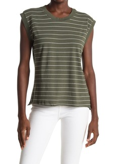 Frank & Eileen Vintage Striped Cap Sleeve T-Shirt
