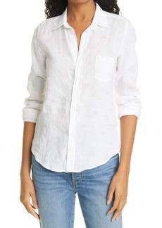 Women's Frank & Eileen Barry Heart Print Linen Shirt