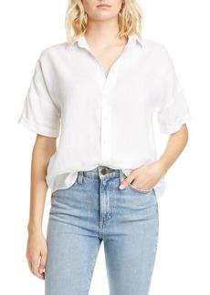 Women's Frank & Eileen Rose Short Sleeve Linen Button-Up Shirt