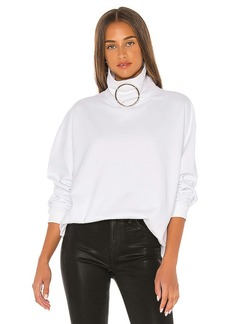 Frankie B Claudette Ring Mock Neck Sweatshirt