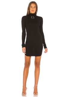 Frankie B Janet Bull Ring Mock Neck Mini Dress