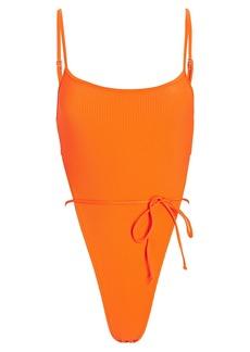Frankies Bikinis Croft Rib Knit One-Piece Swimsuit