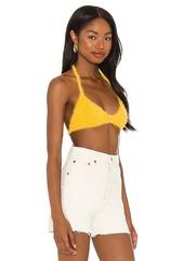 Frankies Bikinis Boardwalk Fuzzy Bra Top