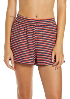 Frankies Bikinis Coco Stripe Terry Cover-Up Shorts
