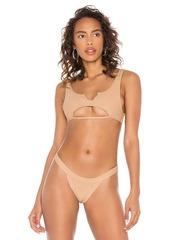Frankies Bikinis Cole Ribbed Bikini Top