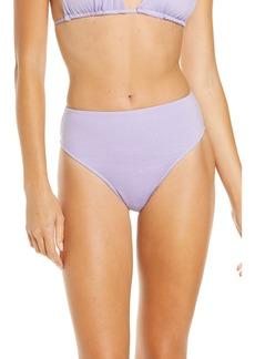 Frankies Bikinis Grotto Metallic High Waist Bikini Bottoms