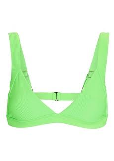 Frankies Bikinis Georgia Ribbed Triangle Bikini Top