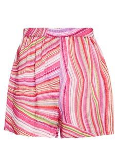 Frankies Bikinis Moonchild Striped Satin Shorts