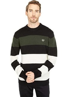 Fred Perry Bold Striped Crew Neck Jumper