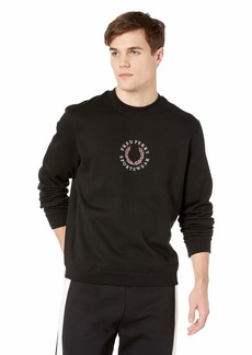Fred Perry Branded Fleece Back Sweatshirt