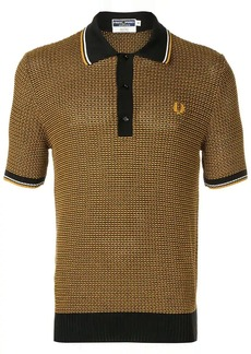 Fred Perry cable knit polo shirt