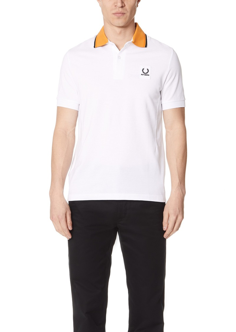 35203a821 Fred Perry Fred Perry by Raf Simons Contrast Collar Pique Shirt ...