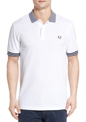 Fred Perry Checkerboard Collar Polo Shirt