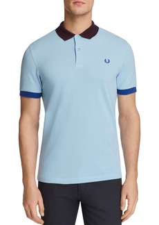 Fred Perry Color-Blocked Pique Short Sleeve Polo Shirt