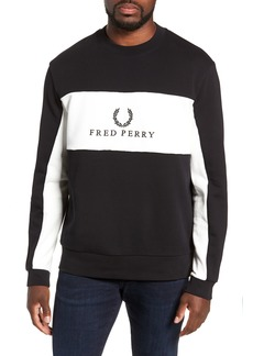 Fred Perry Colorblock Crewneck Sweatshirt
