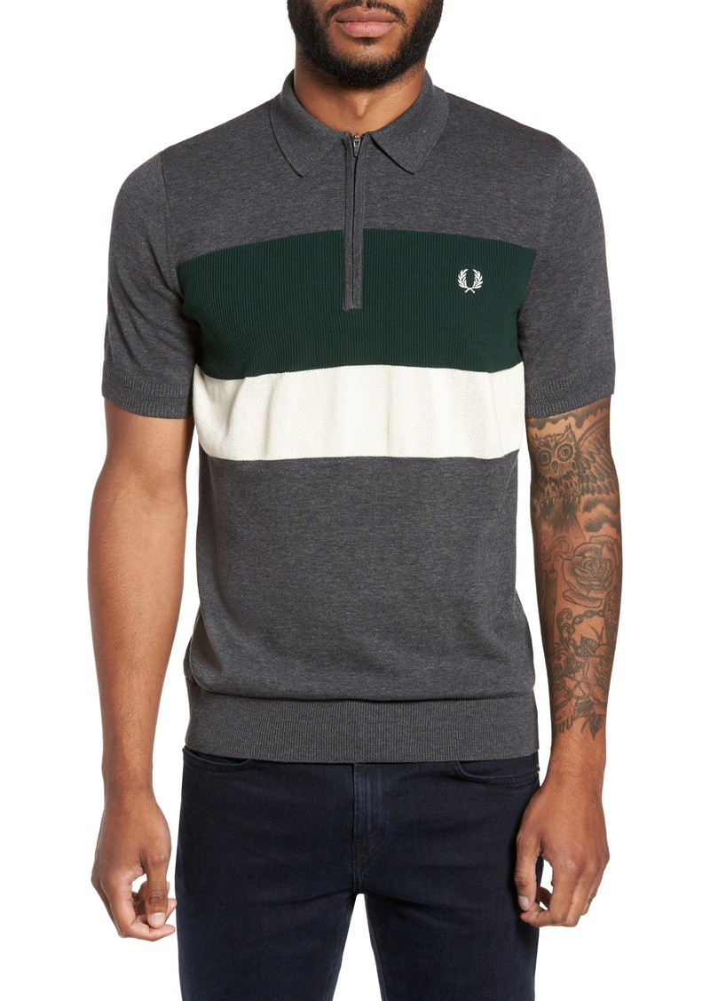 fred perry fred perry colorblock polo casual shirts. Black Bedroom Furniture Sets. Home Design Ideas
