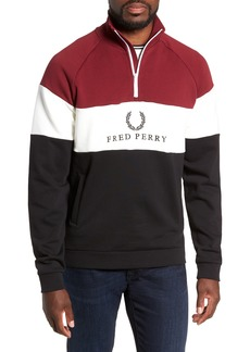 Fred Perry Colorblock Quarter Zip Pullover