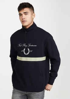 Fred Perry Embroidered Funnel Neck Sweatshirt