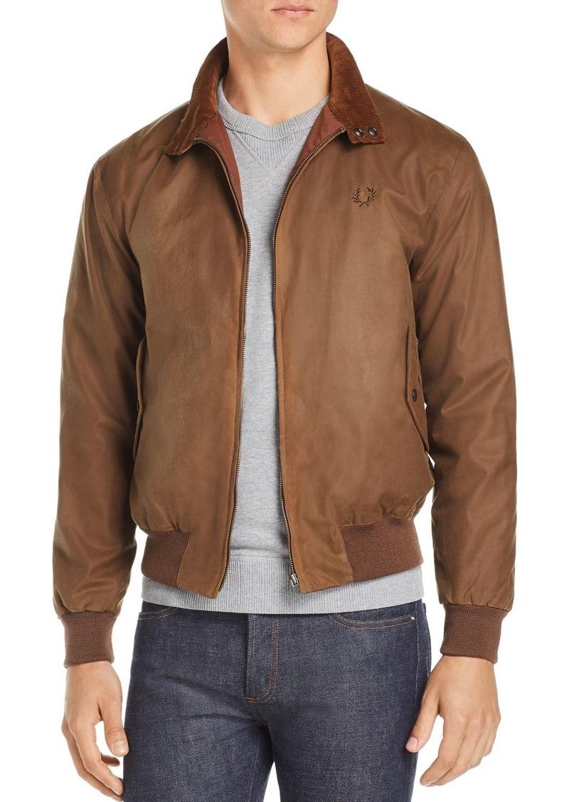uusi kokoelma katsella hyvin tiedossa Fred Perry Fred Perry Harrington Waxed Bomber Jacket   Outerwear
