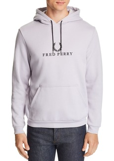 Fred Perry Hooded Embroidered-Logo Sweatshirt