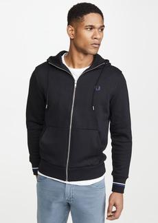 Fred Perry Hooded Zip Through Sweatshirt