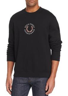 Fred Perry Logo-Embroidered Fleece Sweatshirt