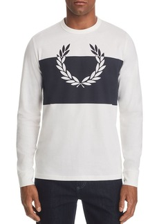 Fred Perry Long-Sleeve Laurel Wreath Graphic Tee