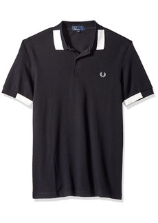 Fred Perry Men's Block Tipped Pique Shirt