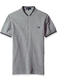 Fred Perry Men's Bomber Neck Pique Shirt