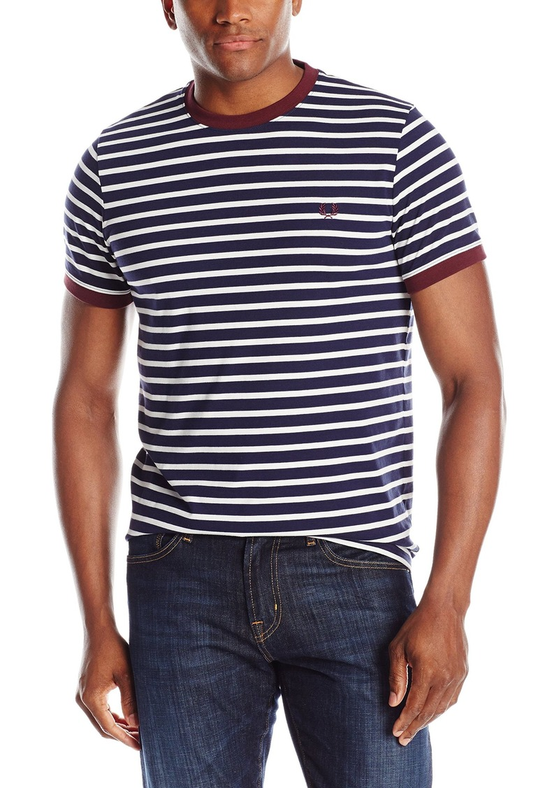 Fred perry fred perry men 39 s breton stripe ringer t shirt for Fred perry mens shirts sale