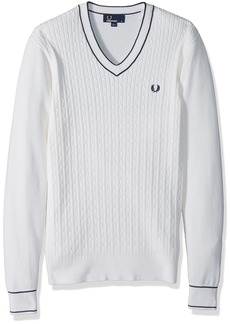 Fred Perry Men's Cable Knit V-Neck Jumper