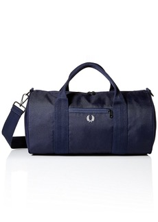 Fred Perry Men's Checked Twill Barrel Bag Navy