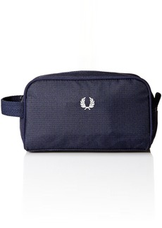 Fred Perry Men's Checked Twill Travel Kit Bag Navy