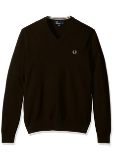 Fred Perry Men's Classic Cotton V-Neck Sweater