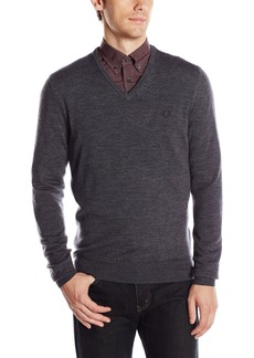 Fred Perry Men's Classic V-Neck SweaterGraphite MARL