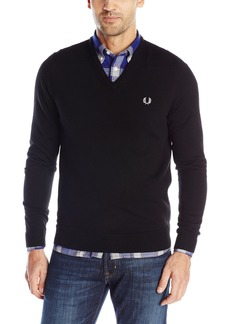 Fred Perry Men's Classic V-Neck SweaterBlack A