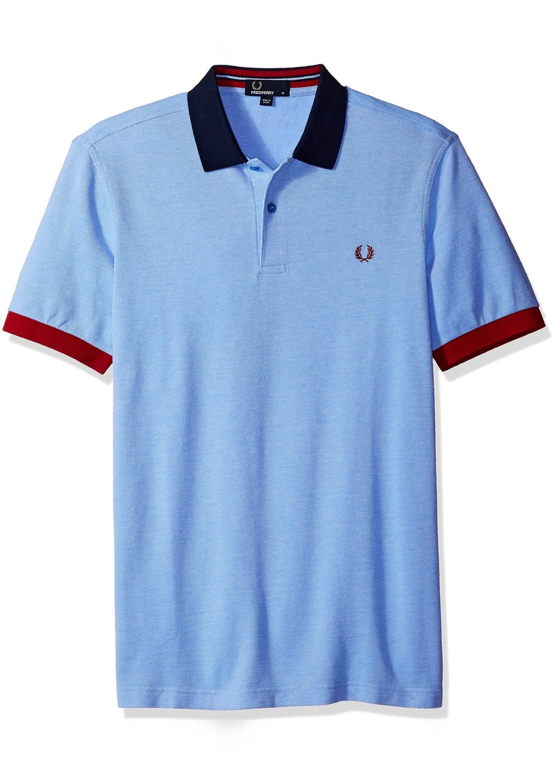 Fred perry fred perry men 39 s color block pique shirt shop for Fred perry mens shirts sale
