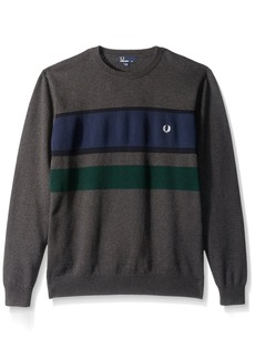 Fred Perry Men's Colour Block Crew Neck Jumper