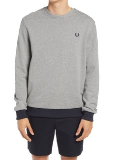 Fred Perry Men's Contrast Trim Cotton Sweatshirt