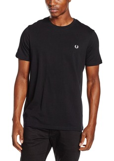 Fred Perry 100% Cotton Crew Neck Black T-Shirt