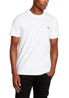 Fred Perry 100% Cotton Crew Neck White T-Shirt