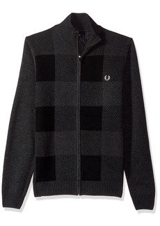 Fred Perry Men's Gingham Zip Thru Jumper