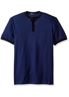Fred Perry Men's Henley Collar Pique Shirt