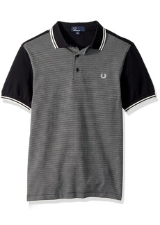 Fred Perry Men's Jacquard Panel Pique Shirt