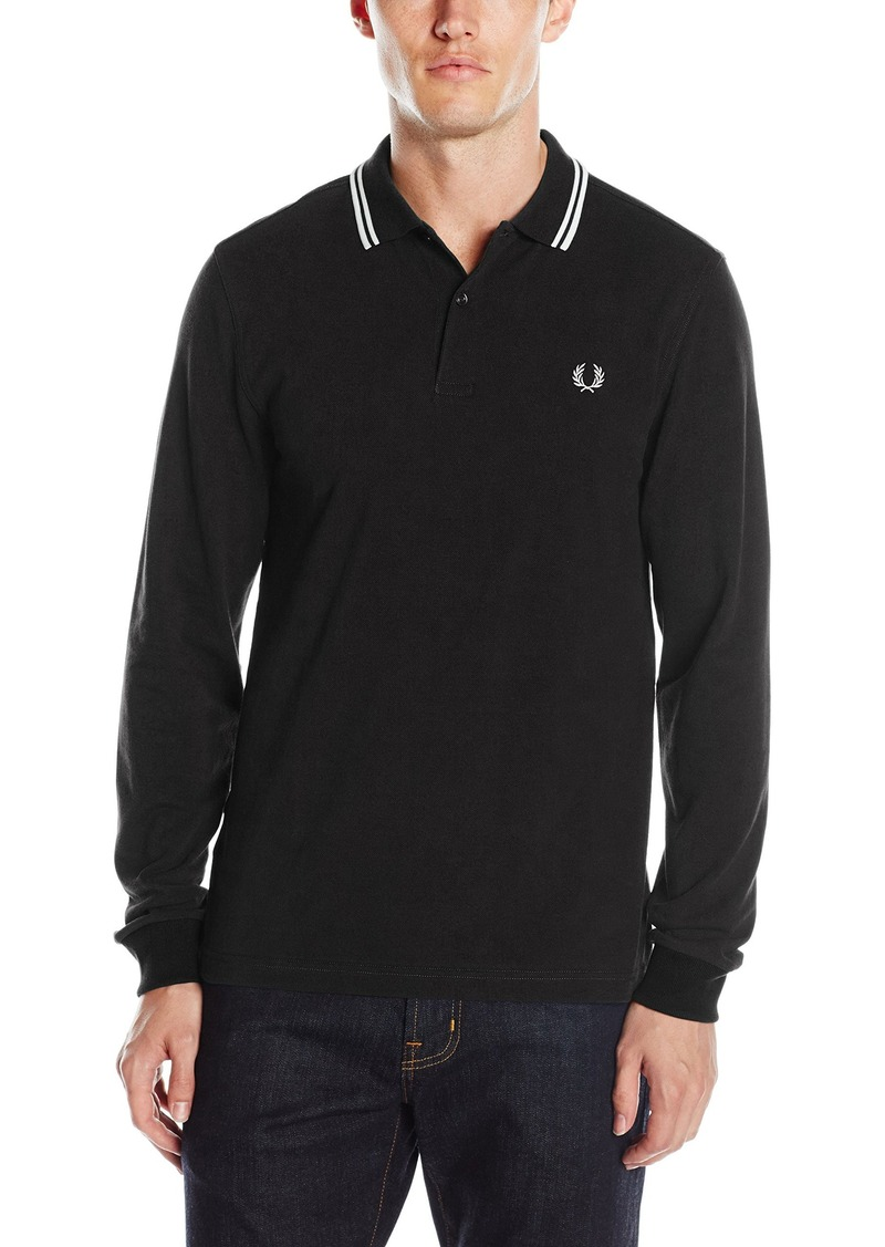 fred perry fred perry men 39 s long sleeve twin tipped shirt x large casual shirts shop it to me. Black Bedroom Furniture Sets. Home Design Ideas